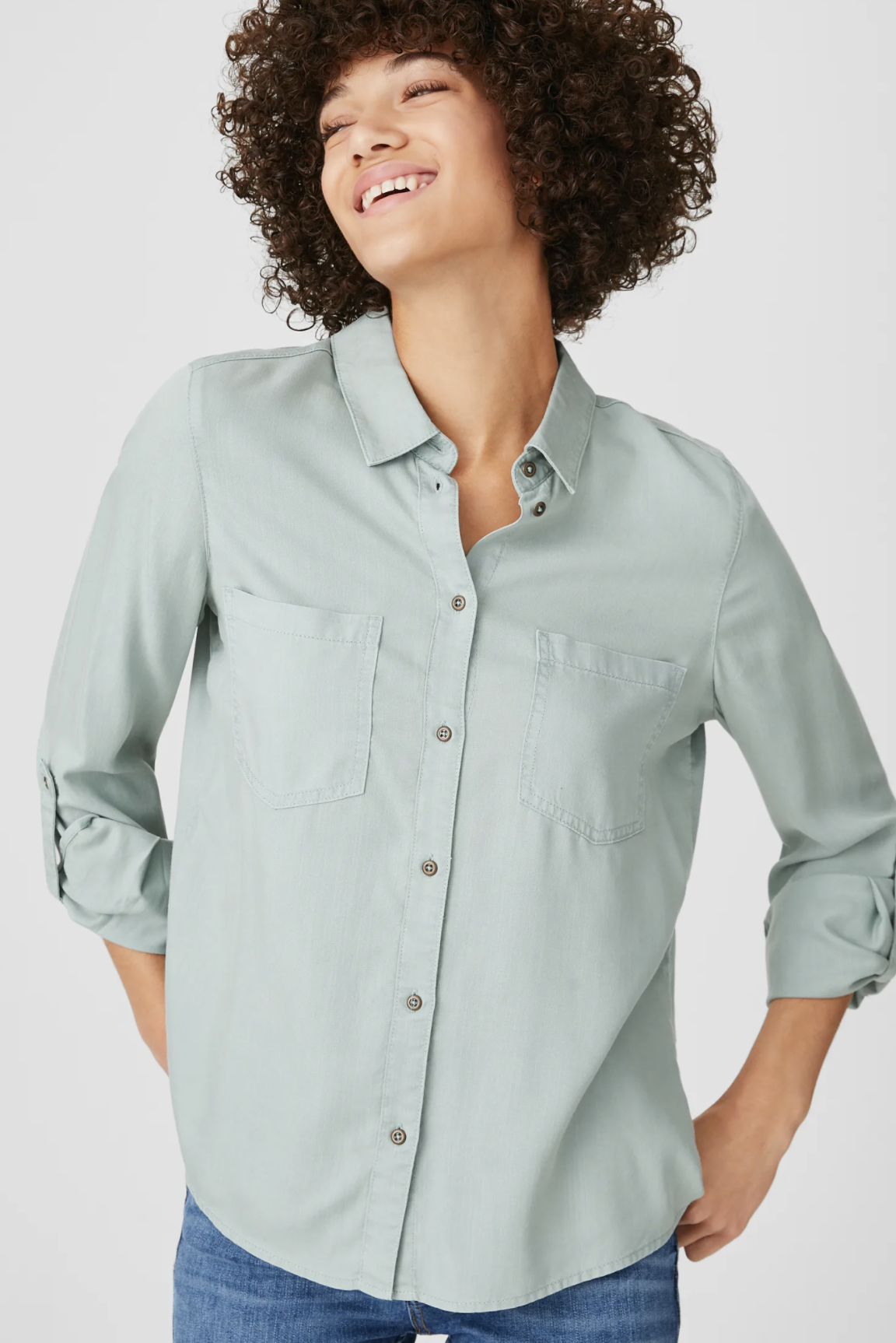 Camisa verde menta