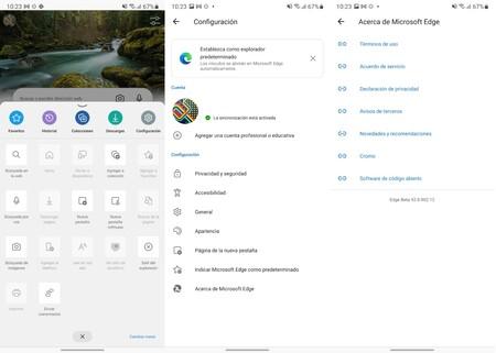 Microsoft Edge Distintas Versiones