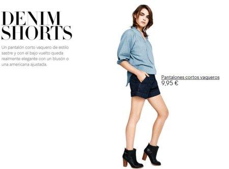 shorts denim H&M