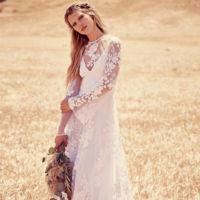 Si te gusta el estilo boho, no estás sola, también hay vestidos de novia para ti