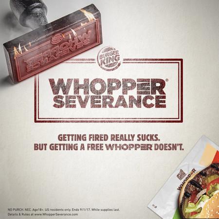 Burger King USA ha ofrecido Whoppers gratis a quien hiciera público su despido en redes sociales