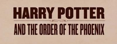 Harry Potter y la tipografía en la orden del Fénix