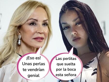 "Carmen Lomana, indignada con el ""vulgar"" outfit 'BershKardashian' de Julia Janeiro Campanario: ""Enseña demasiada carne"""