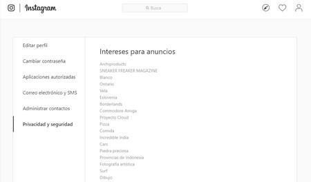 Ad Interests Instagram