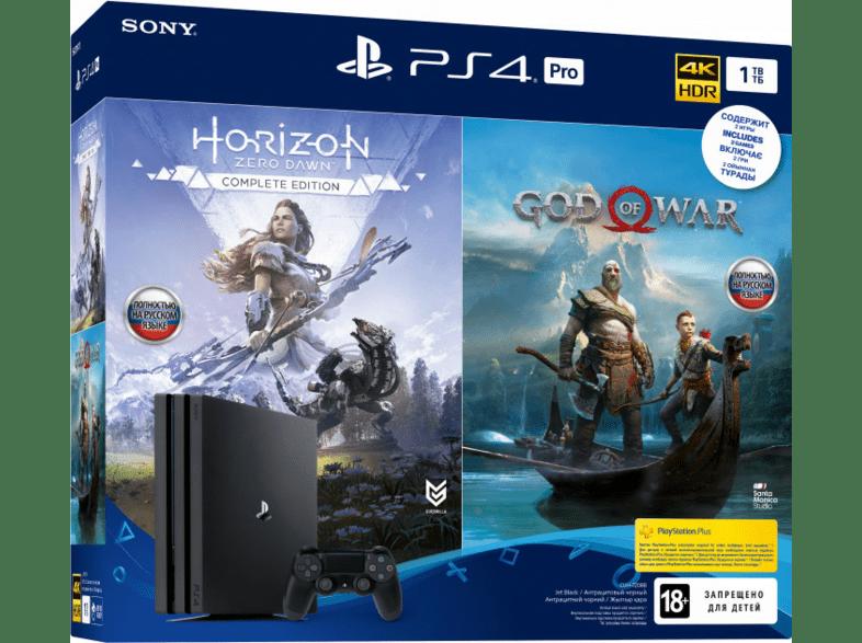 Consola PS4 Pro 1TB + God Of War Hits + Horizon Zero Dawn Hits