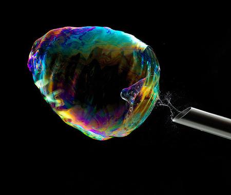 Burbuja con pajita