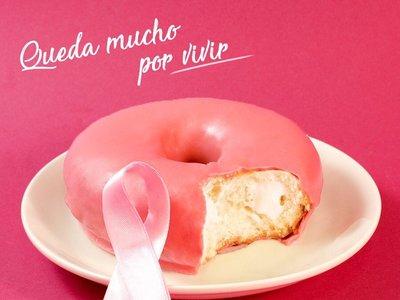 Donuts aprovecha el #DíaMundialdelCáncerdeMama para hacer publicidad de sus productos procesados