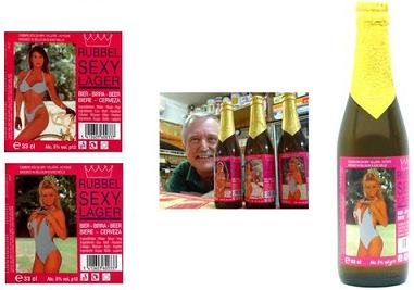 Cervezas con envase erótico, las Rubbel Sexy Lager