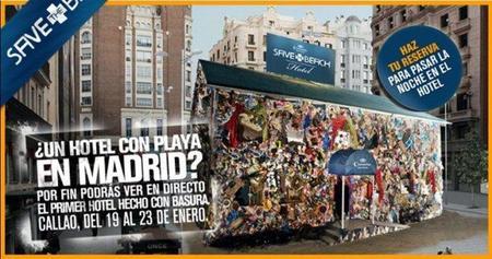 El hotel hecho de basura ahora llega a Madrid