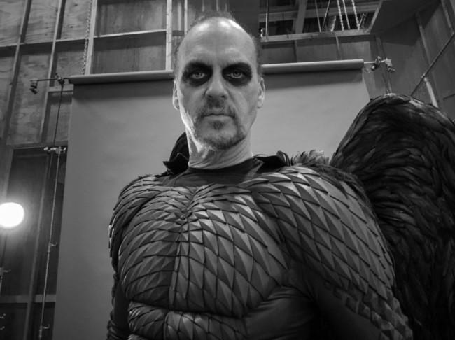 Michael Keaton durante el rodaje de Birdman