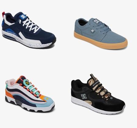 Chollos en tallas sueltas de zapatillas DC Shoes a partir de 22 euros gracias al descuento del 40% extra