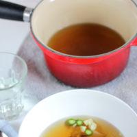 Cenas ligeras. Receta de caldo dashi sencillo con hortalizas