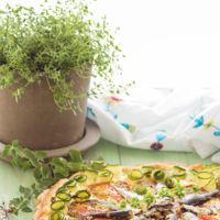 Pizza de sardinas y panna cotta con melocotones caramelizados en la quincena gourmet de Trendencias Lifestyle (LIII)