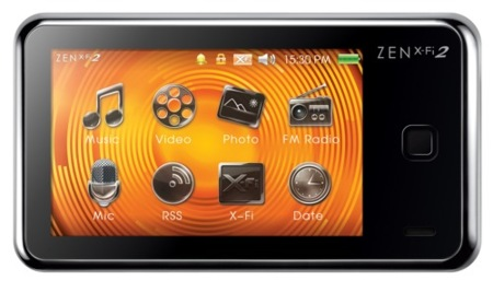 Creative Zen X-Fi2 incorpora una pantalla táctil