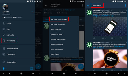 Marcar tuits para leerlos después: Twitter está haciendo pruebas en la última beta de Android