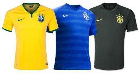 Las 32 playeras de Brasil 2014