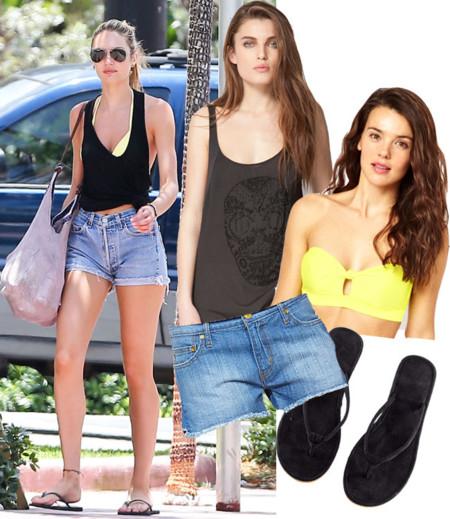 Candice Swanepoel Famosas shorts