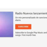 La radio 'Nuevos lanzamientos' ya está disponible para todos los usuarios de Google Play Música
