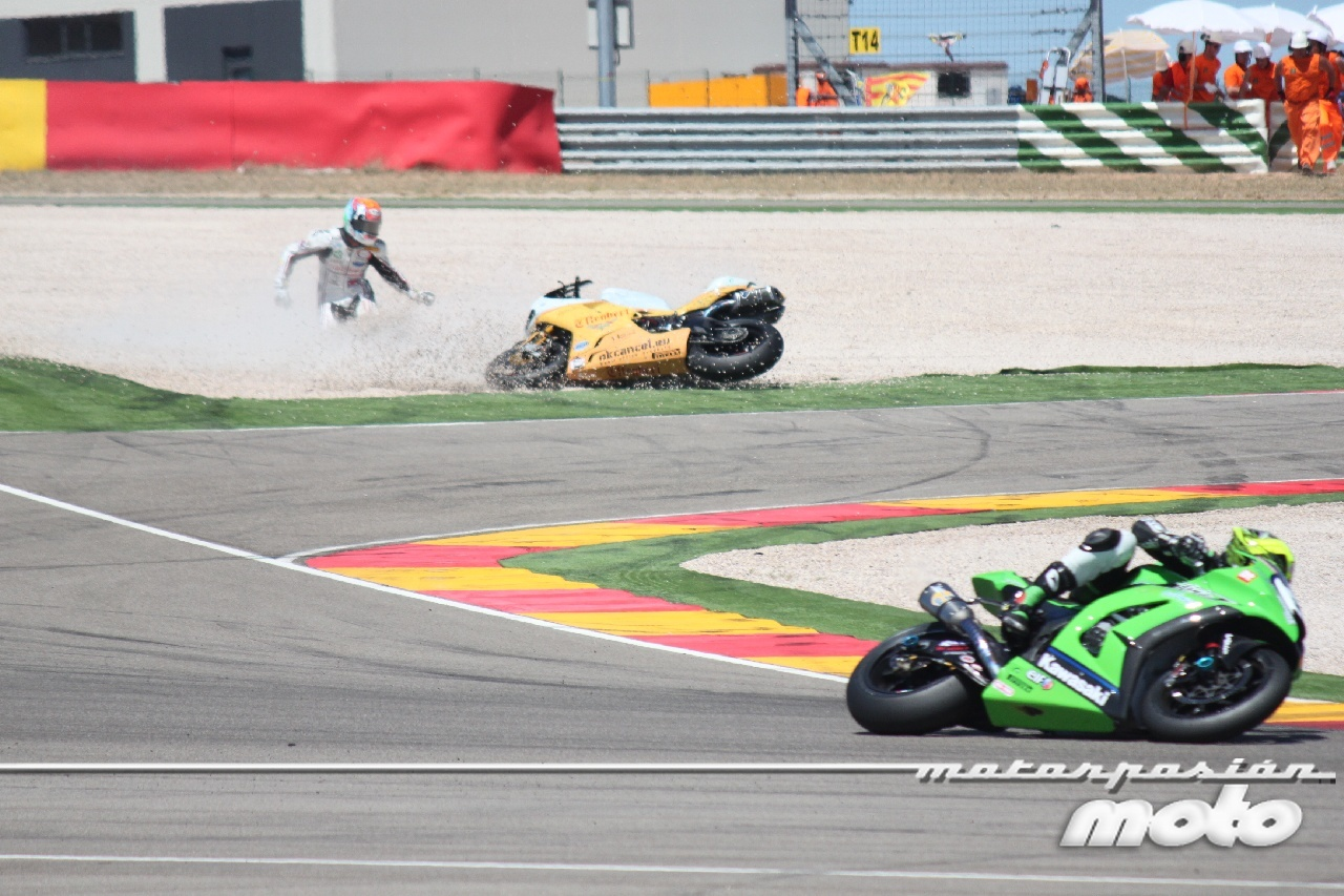 Superbikes España 2011: Caída  Jakub Smrz