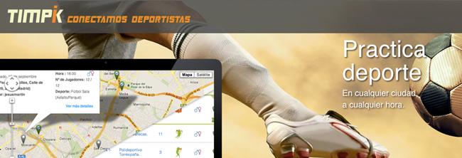 Timpik la aplicación social para deportistas