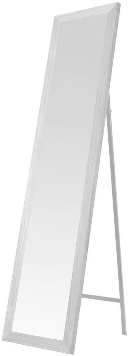 Espejo de pie Blanco nórdico de Madera de 37 x 157 cm - LOLAhome