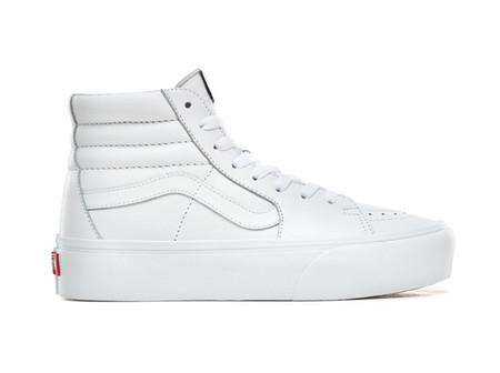 Zapatillas Casual De De Mujer Ua Sk8 Hi Platform 2 Leather Truew Vans