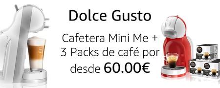 Promoción en Amazon: cafeteras de cápsulas Krups Dolce Gusto Mini Me desde 60 euros con 48 cápsulas de regalo