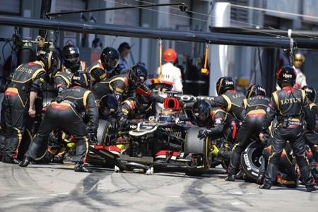 Pit stop de Kimi Raikkonen