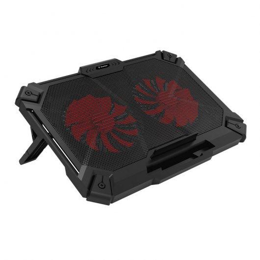 "Tempest K35 Slim Laptop Cooling Pad Red Base de Refrigeración para Portátil hasta 17"""