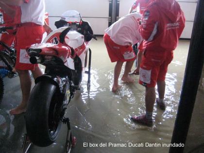 Un diluvio cancela la primera jornada en Misano