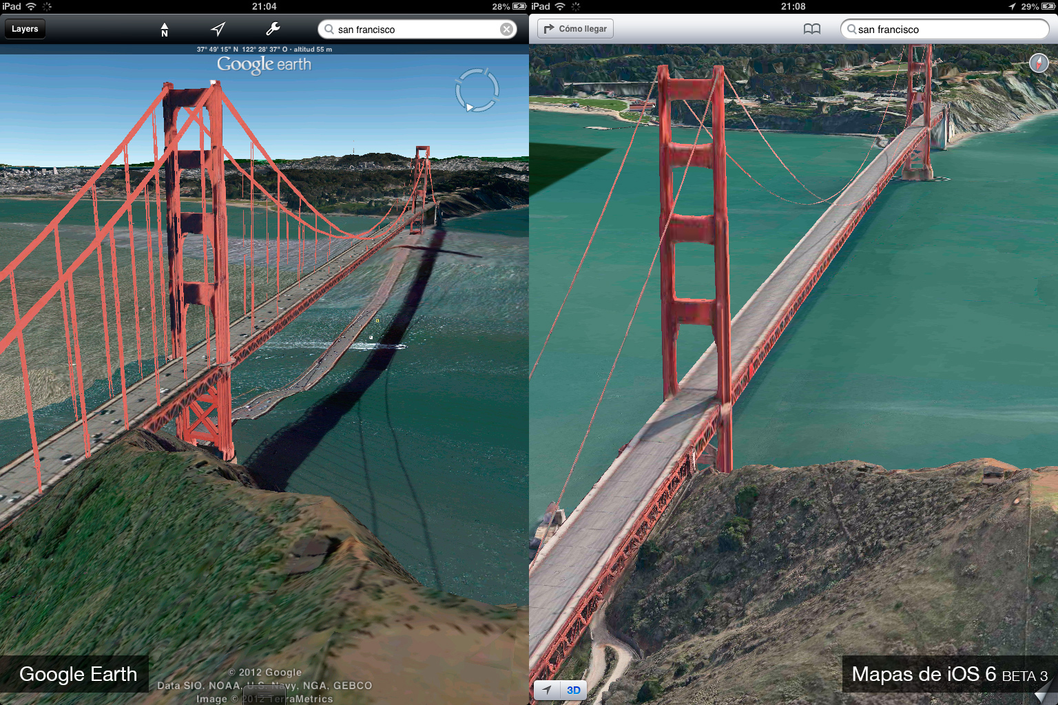 Foto de Google Earth 7.0 contra Mapas de iOS 6 (beta 3) (8/9)