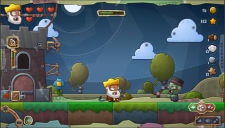 ¿Escapar de los zombis con un castillo que vuela? Con el juego en flash gratuito 'Zombie at the Gates' esto se hará realidad
