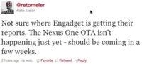 El Nexus One recibirá la OTA de Gingerbread en unas pocas semanas