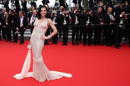 Mouna Ayoub Festival de Cannes look vestido