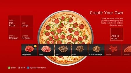 Ya se pueden pedir pizzas desde la Xbox 360