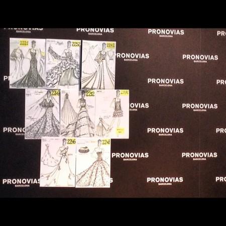 detalles del backstage desfile de Pronovias 2013