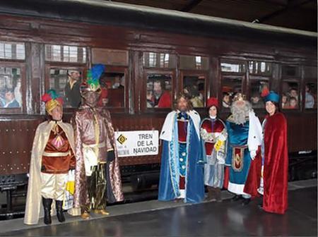 Madrid: un paseo en el Tren de la Navidad