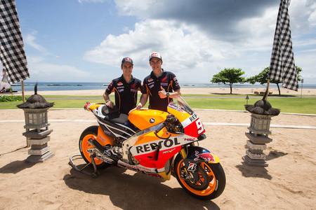 Presentación del Repsol Honda, ¿dónde estaba la moto de Dani Pedrosa?