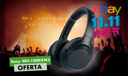Unos excelentes auriculares con cancelación de ruido como los Sony WH-1000XM3 nos salen por sólo 203,99 euros en el Día del Soltero de eBay con este cupón