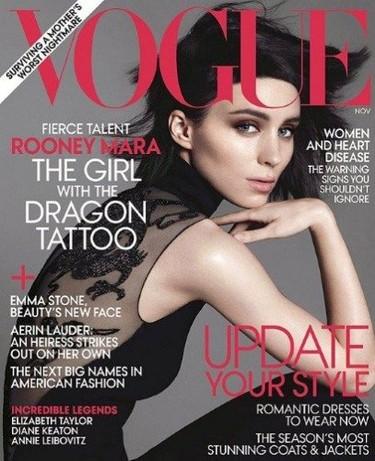 Rooney Mara, un bellezón andrógino portada de Vogue
