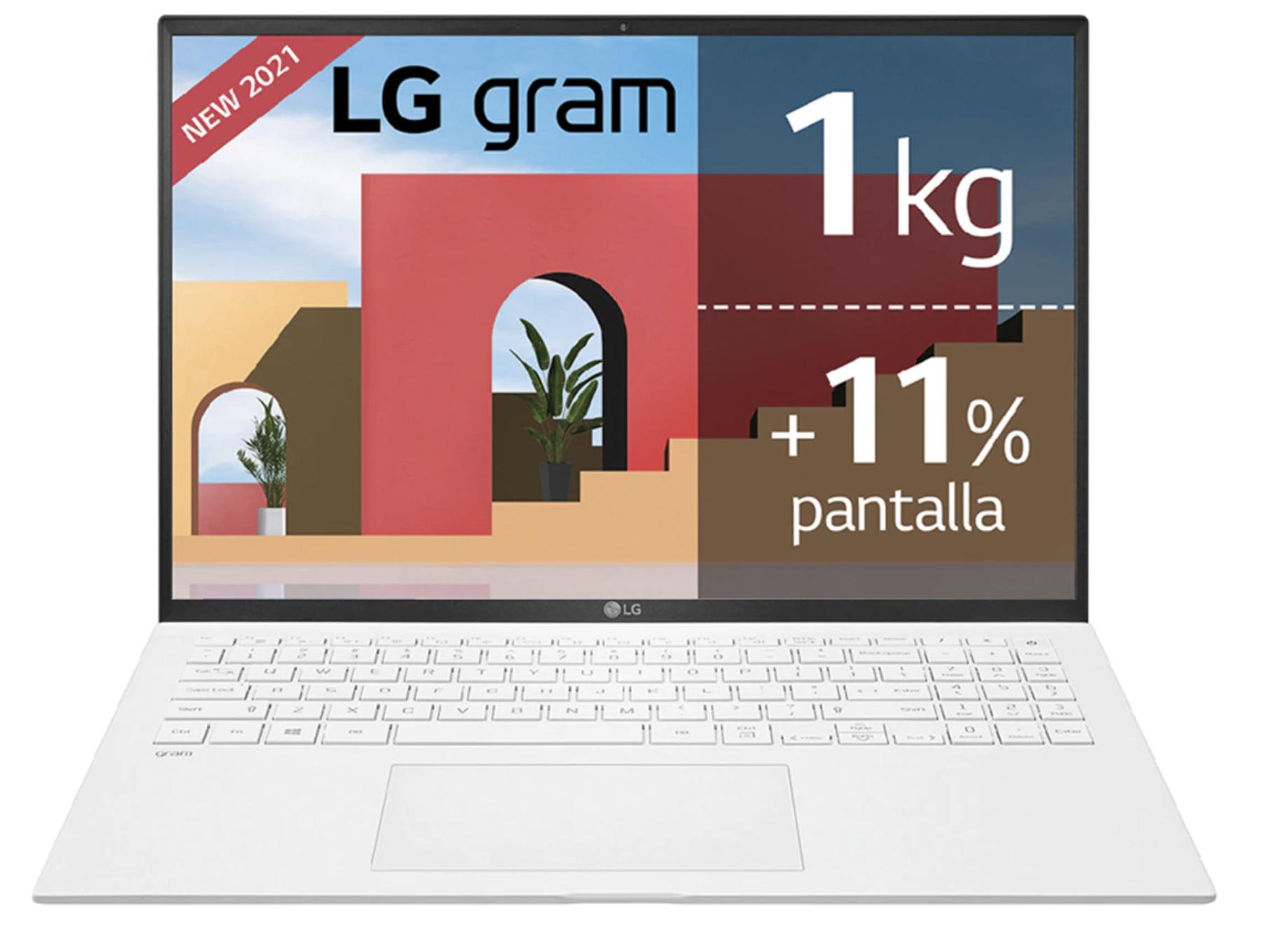 Portátil LG Gram 16Z90P, i7, 16GB, 512GB SSD