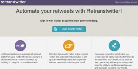 Retranstwitter, el servicio que te ayuda a automatizar tus retuits. Y a perder seguidores si lo usas mal