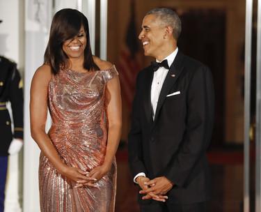Michelle Obama brilla con luz propia en la última Cena de Estado