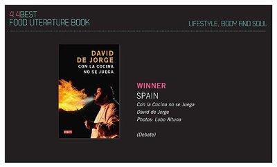 David de Jorge, premiado en los Gourmand World Cookbooks Awards