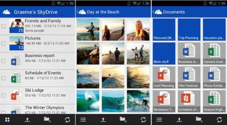 SkyDrive ya tiene aplicación para Android