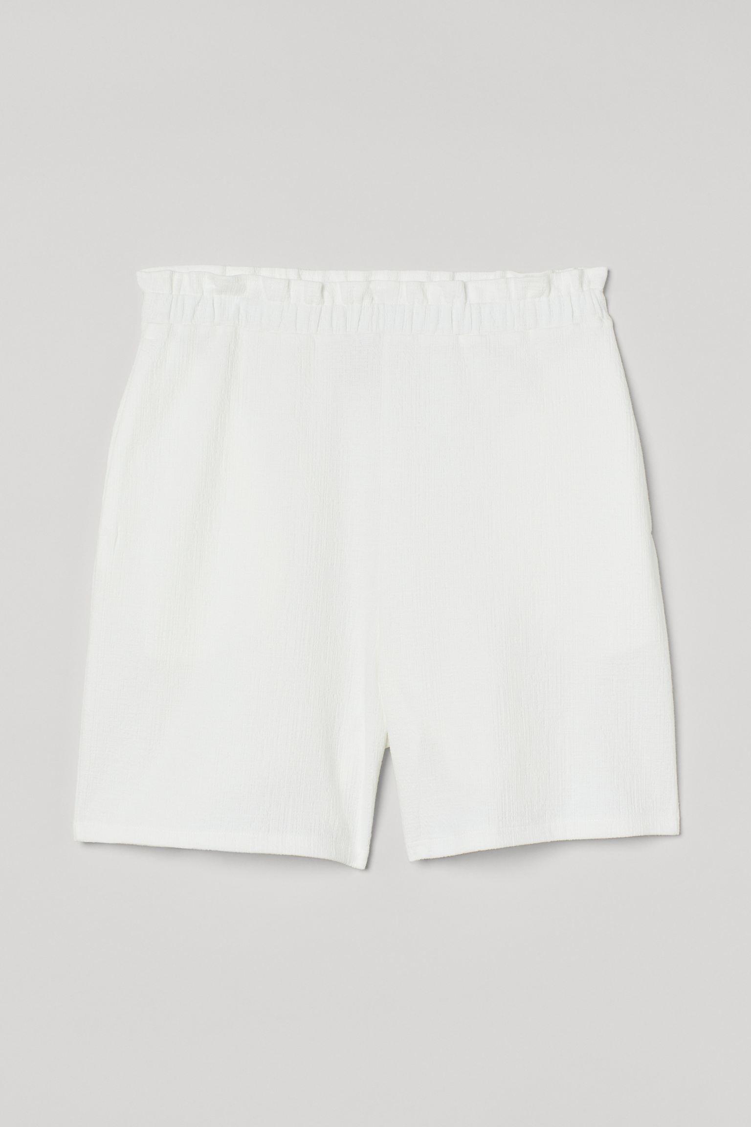 Bermudas paper bag de color blanco