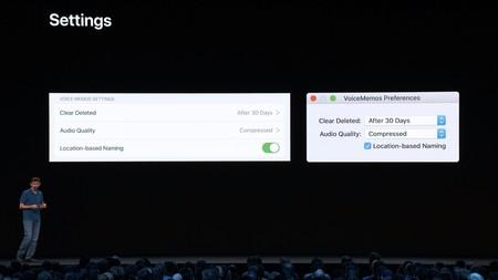 Conversión de los Settings en iOS a las Preferences en Mac. El sistema hará la conversión él solo.
