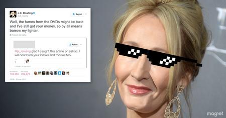 A nadie en el mundo le importan menos las opiniones de sus lectores ahora mismo que a J. K. Rowling