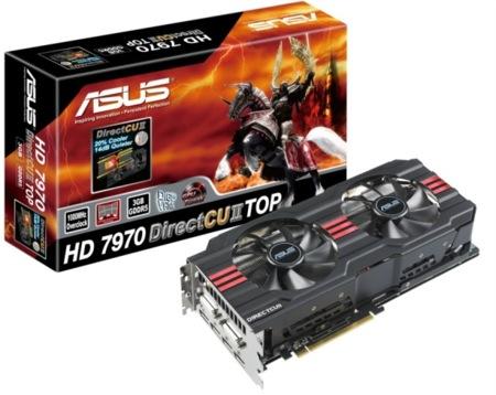 Asus HD 7970 y 7950 DirectCU II, enormes y caras pero únicas