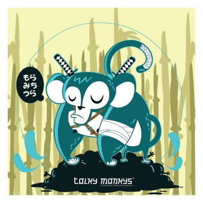 Tolky Monkys posters: Unai el mono samurai